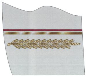 Рисунок шитья на обшлагах